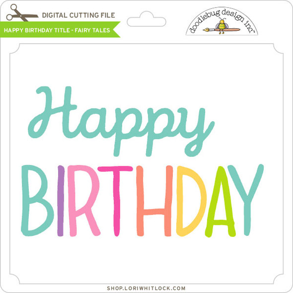 Happy Birthday Title Fairy Tales