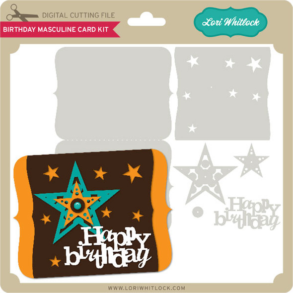 Birthday Masculine Card Kit
