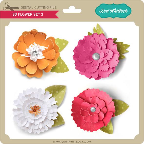 3D Flower Set 3