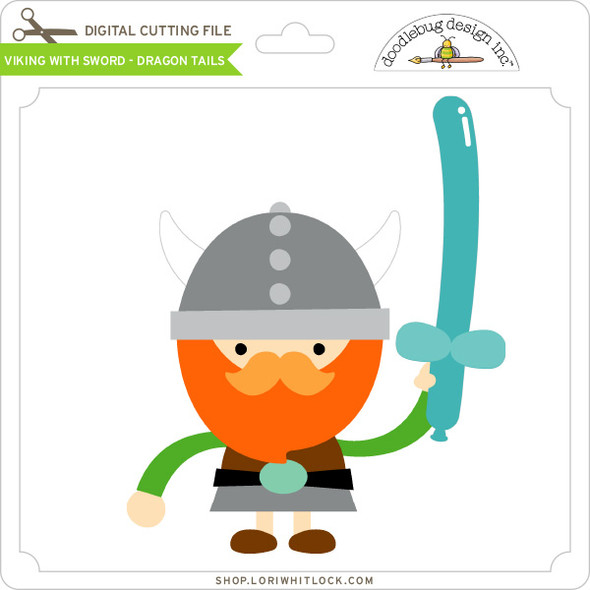 Viking with Sword - Dragon Tails