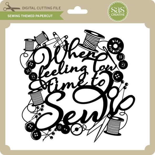 Sewing Themed Papercut