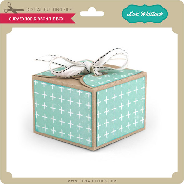 Curved Top Ribbon Tie Box