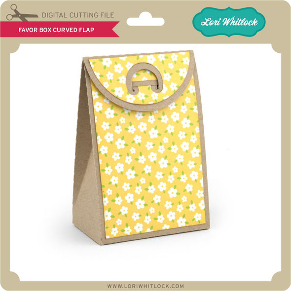 Favor Box Curved Flap