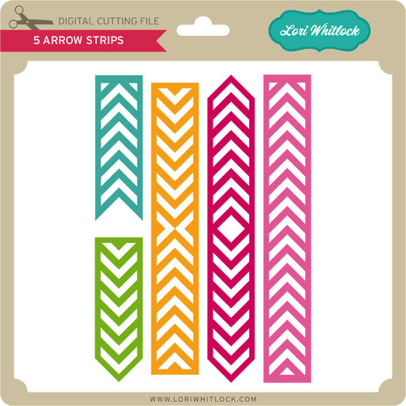5 Arrow Strips PNG and SVG