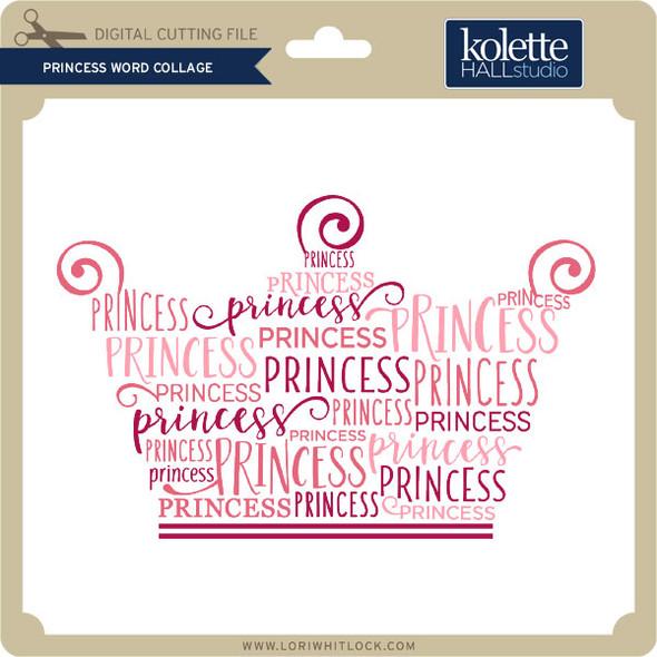 Princess Word Collage