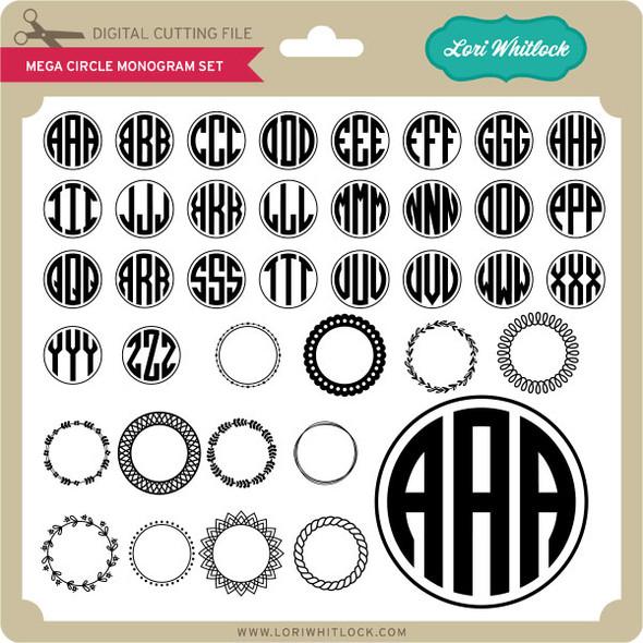 Mega Circle Monogram Set