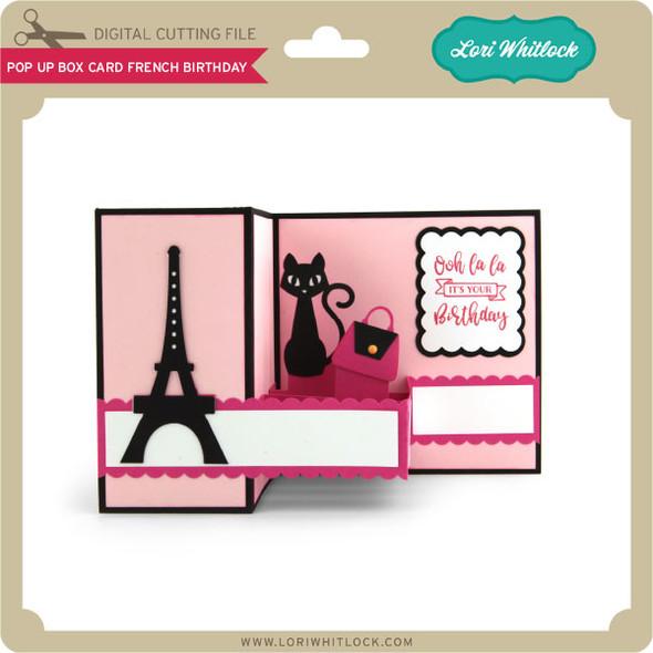 Pop Up Box Card French Birthday