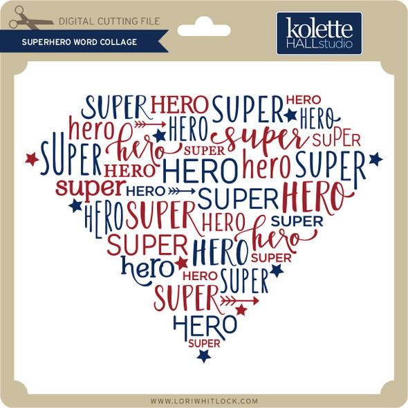 Superhero Word Collage