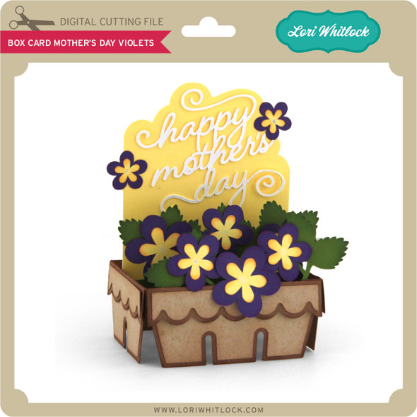 Box Card Mother's Day Violets