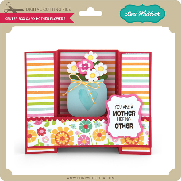 Center Box Card Mother Flowers