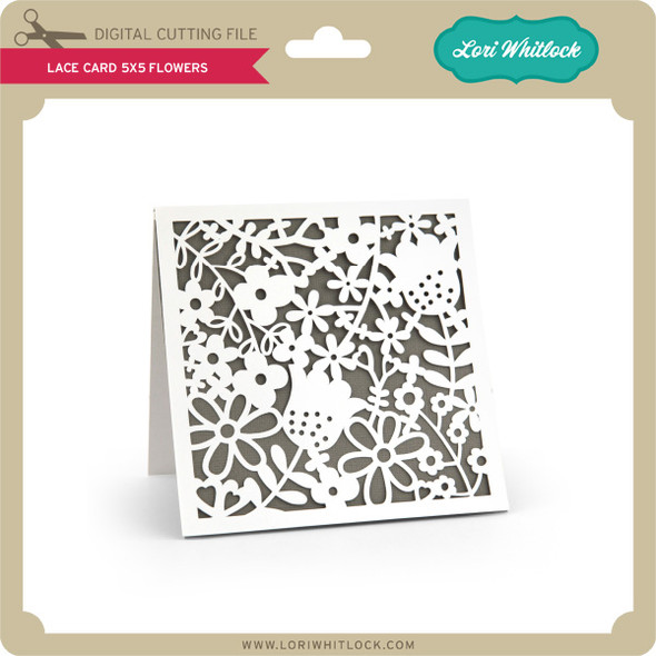 Lace Card 5x5 Flowers