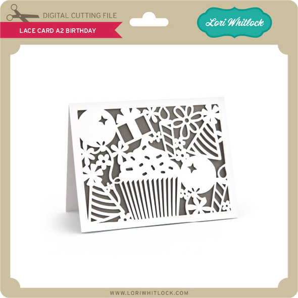 Lace Card A2 Birthday