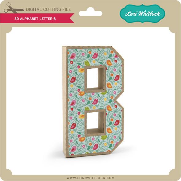 3-D Alphabet Letter B