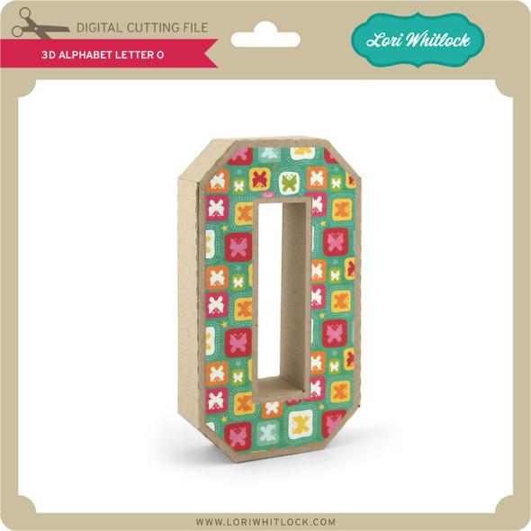 3-D Alphabet Letter O