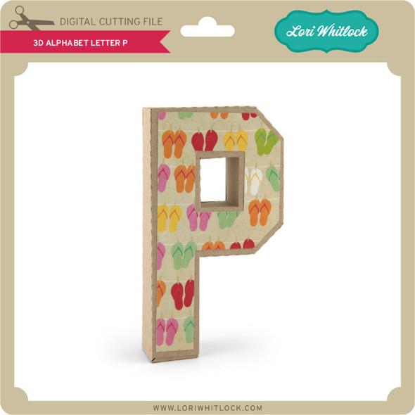 3-D Alphabet Letter P