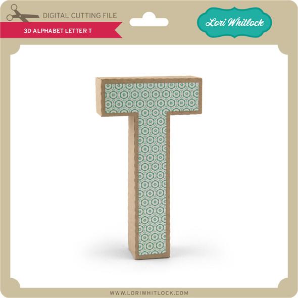 3-D Alphabet Letter T