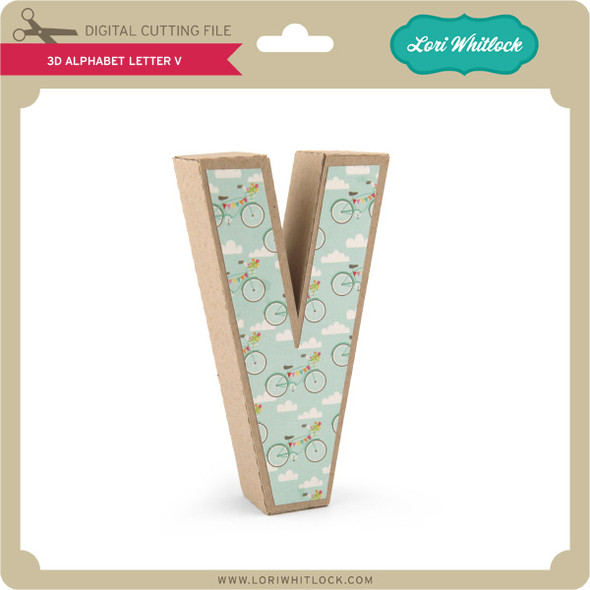 3-D Alphabet Letter V
