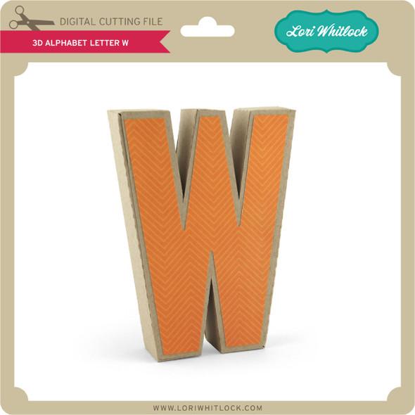 3-D Alphabet Letter W