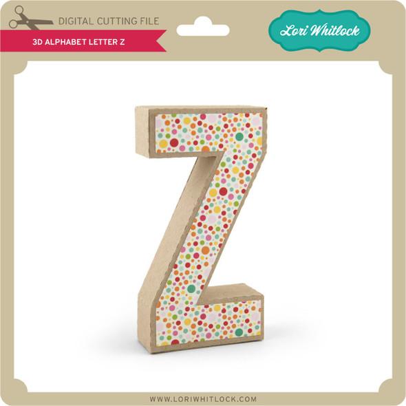 3-D Alphabet Letter Z