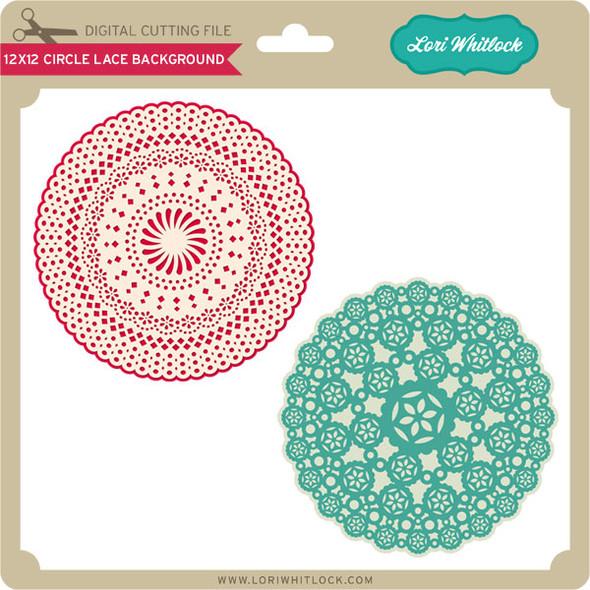 12X12 Circle Lace Background