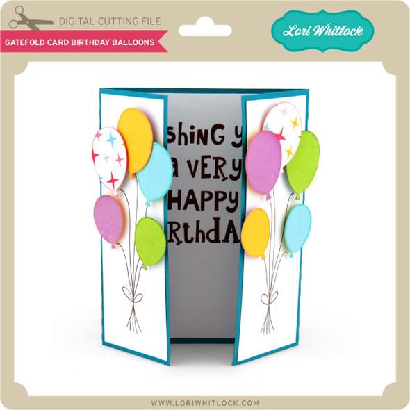 Gatefold Card Birthday Balloons