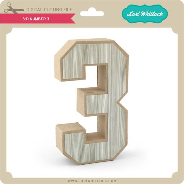 3-D Number 3