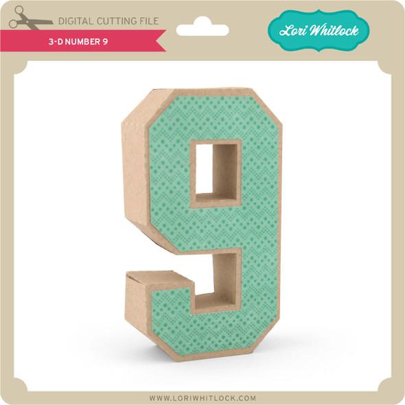 3-D Number 9