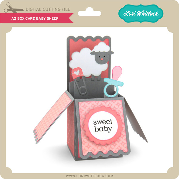A2 Box Card Baby Sheep