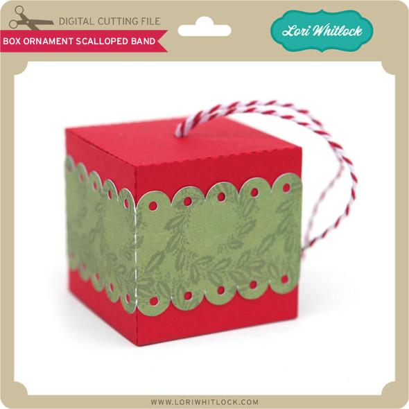 Box Ornament Scalloped Band