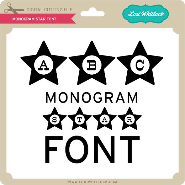 Monogram Star Font