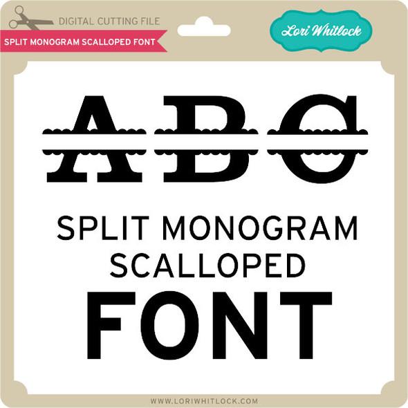 Split Monogram Scalloped Font
