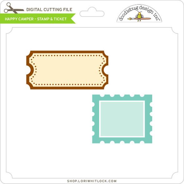 Happy Camper - Stamp & Ticket