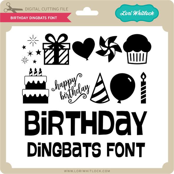 Birthday Dingbats Font