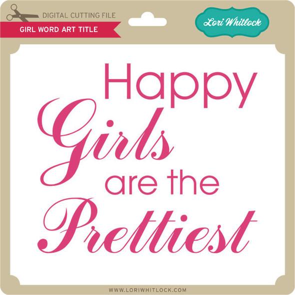 Girl Word Art Titles