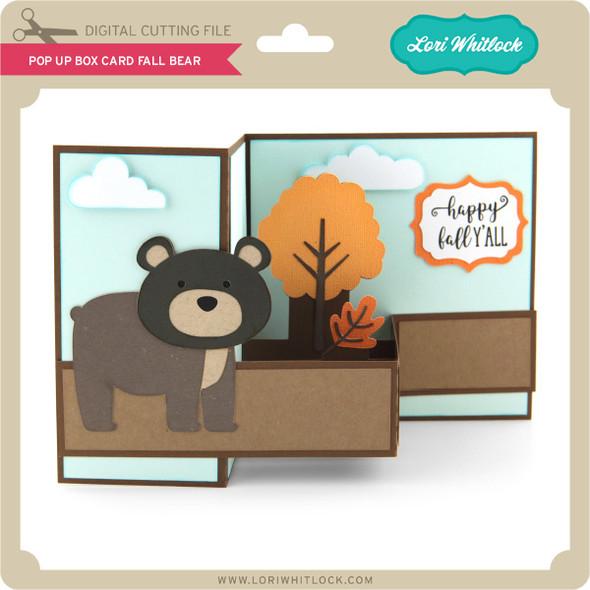 Pop Up Box Card Fall Bear