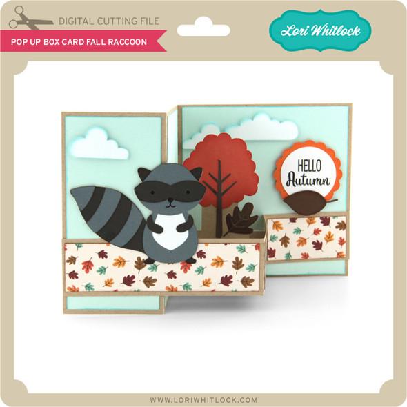 Pop Up Box Card Fall Raccoon