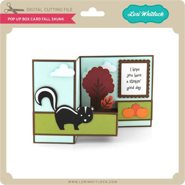 Pop Up Box Card Fall Skunk
