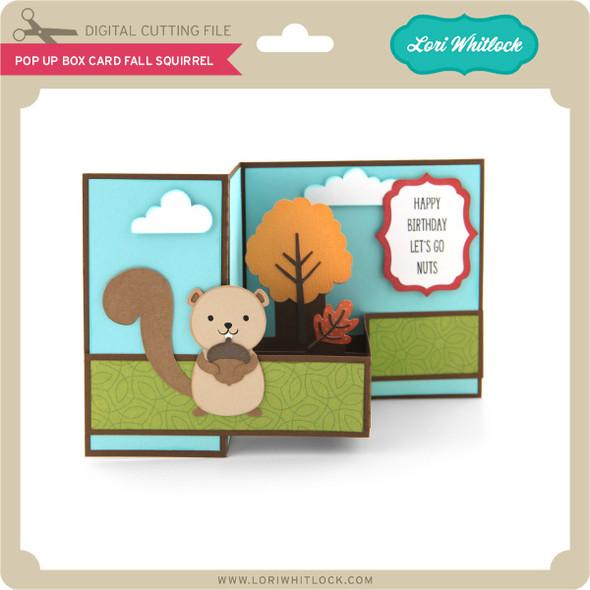 Pop Up Box Card Fall Squirrel