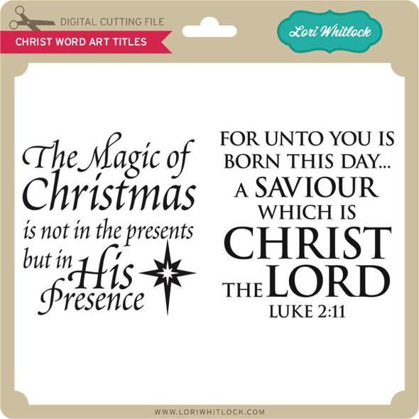 Christ Word Art Titles