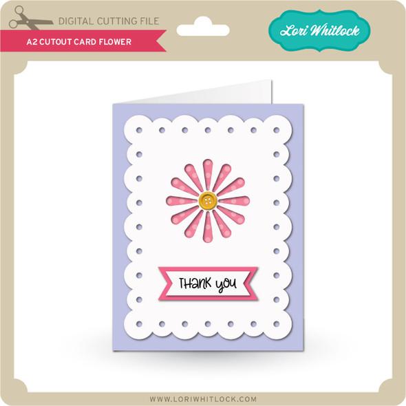 A2 Cutout Card Flower