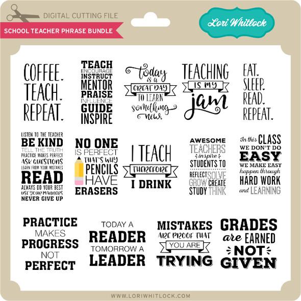 School Teacher Phrase Bundle