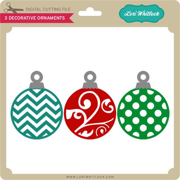 3 Decorative Ornaments