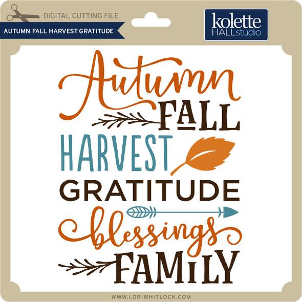 Autumn Fall Harvest Gratitude