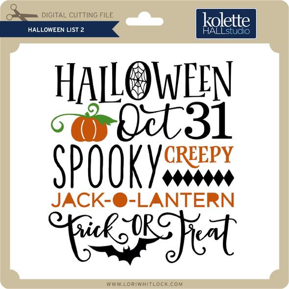 Halloween List 2