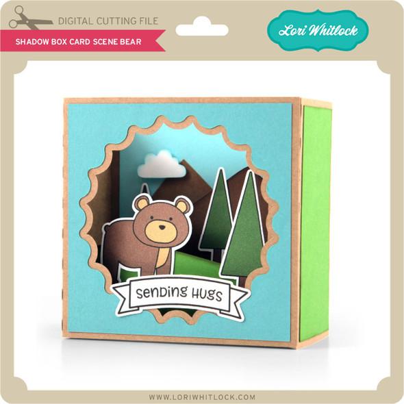 Shadow Box Card Scene Bear
