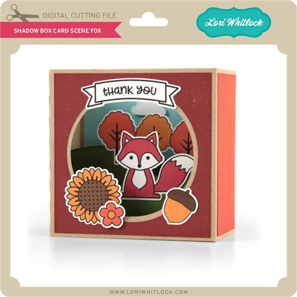 Shadow Box Card Scene Fox
