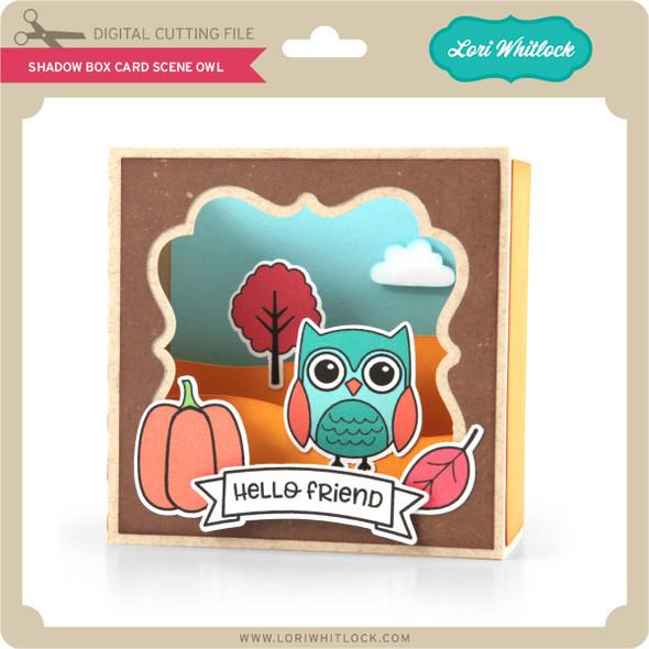 Shadow Box Card Scene Owl
