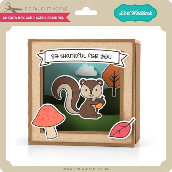 Shadow Box Card Scene Squirrel