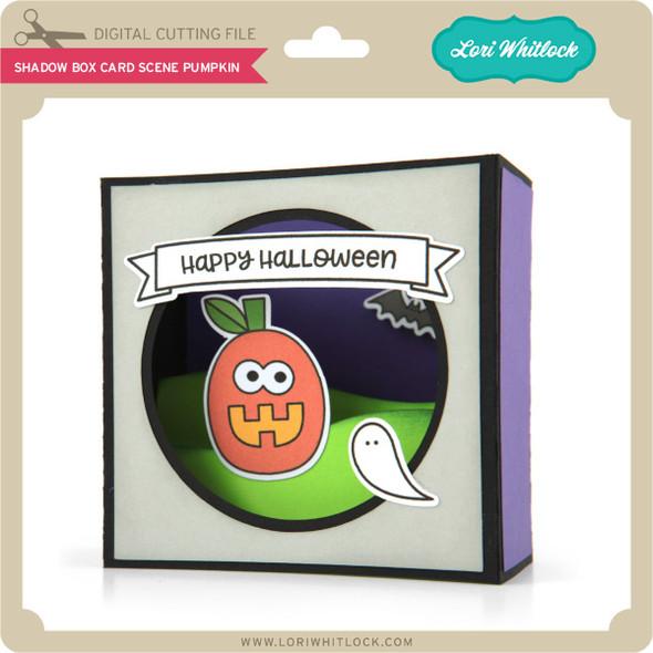 Shadow Box Card Scene Pumpkin