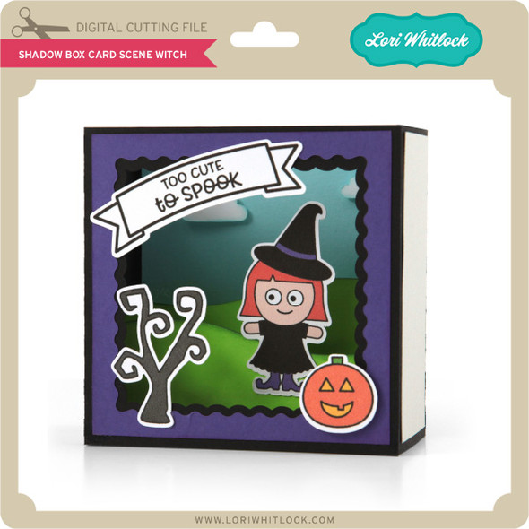 Shadow Box Card Scene Witch